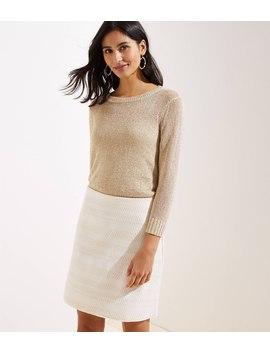 Chevron Jacquard Knit Skirt by Loft