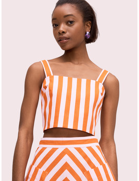 Deck Stripe Crop Top by Kate Spade