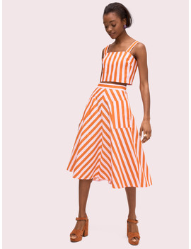 Deck Stripe Midi Skirt by Kate Spade