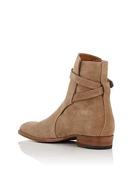 Wyatt Suede Jodhpur Boots by Saint Laurent