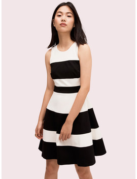 Stripe Ponte A Line Dress by Kate Spade