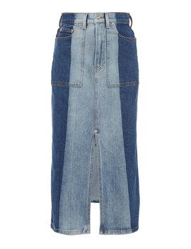 a68a6be0c3 Shoptagr | Two Tone Denim Midi Skirt by Proenza Schouler Pswl