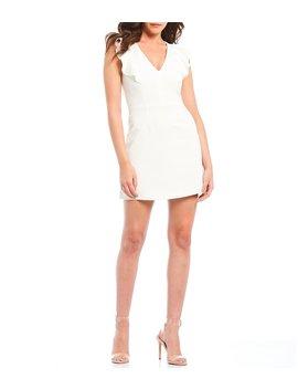 Summer Whisper Ruffle Mini Sheath Dress by French Connection