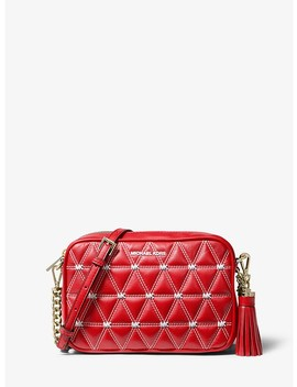 Ginny Medium Quilted Leather Crossbody Bag by Michael Michael Kors