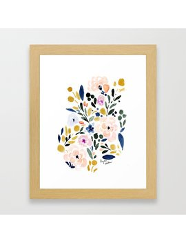 Sierra Floral Framed Art Print by Society6