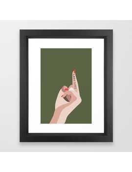 Ladylike Framed Art Print by Society6