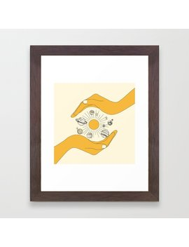 The Universe In Your Hands Framed Art Print by Society6