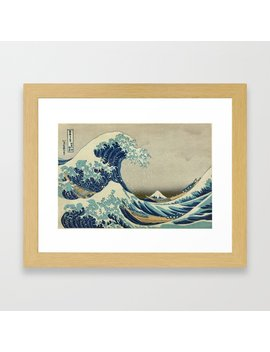 The Classic Japanese Great Wave Off Kanagawa Print By Hokusai Framed Art Print by Society6