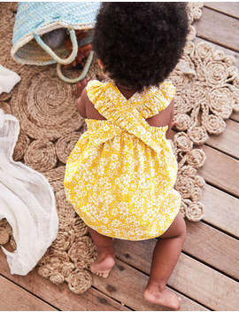 frilly-bubble-romper---mimosa-forget-me-not by boden