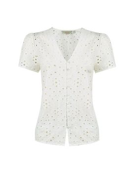 Petite Ivory Broderie Top by Dorothy Perkins