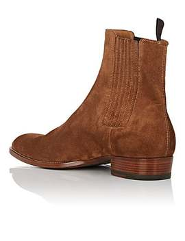 Wyatt Suede Chelsea Boots by Saint Laurent