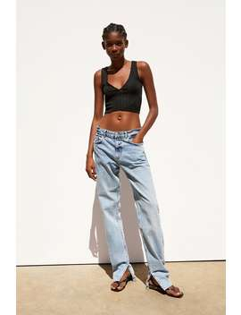 eb130c8dd7 Shoptagr | Textured Weave Cropped Top New Intrf by Zara