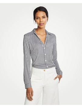 Checked Essential Shirt by Ann Taylor