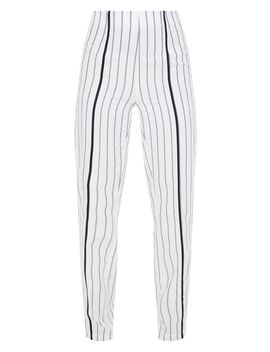White Striped Linen Pants by Prettylittlething