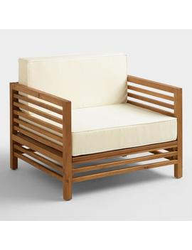 Wood Praiano Outdoor Occasional Chair by World Market