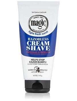 Razorless Shaving Cream For Men By Soft Sheen Carson Magic, Hair Removal Cream, Regular Strength For Normal Beards, No Razor Needed, Depilatory... by Soft Sheen Carson