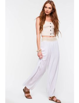 Summer Lovin Crochet Inset Wide Leg Pant by A'gaci