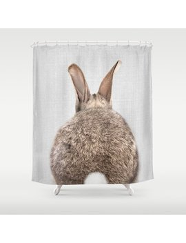 Rabbit Tail   Colorful Shower Curtain by Society6