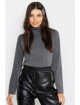 Basic Loose Fitting Turtle Neck T Shirt by Boohoo