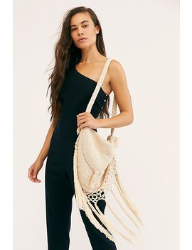 Wind Whispers Macrame Shoulder Bag by Tricia Fix