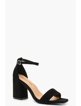 Extra Wide Fit Square Toe Block Heels by Boohoo