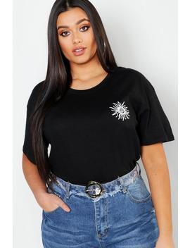 Plus Sunshine Pocket Print T Shirt by Boohoo