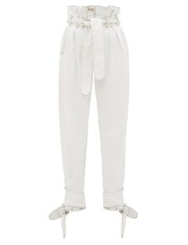 X The Attico Paperbag Waist Denim Trousers by Re/Done Originals