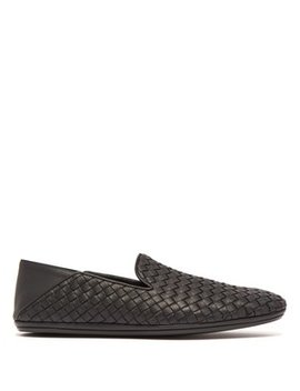 Intrecciato Weave Leather Loafers by Bottega Veneta