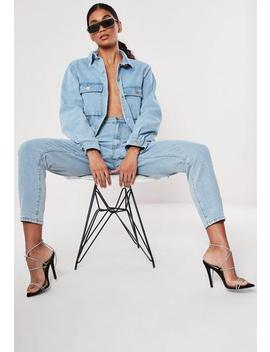 Blue Riot Utility Jeans by Missguided