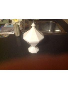 Vintage Milk Glass Pedestal Candy Dish With Lid, Elegant Simple Design by Ebay Seller