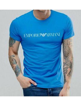 emporio-armani-ea-blue-t-shirt-chest-logo---m,-l,-xl by emporio-armani