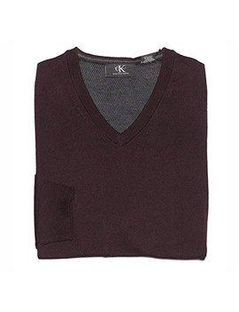 Calvin Klein Men's V Neck Merino Wool Sweater by Calvin Klein