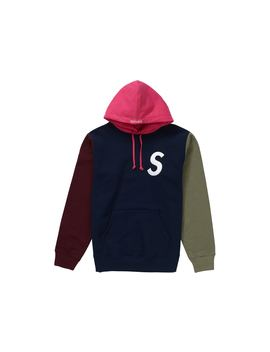 a6a2d968 Shoptagr | Supreme S Logo Colorblocked Hooded Sweatshirt Navy by Stock X