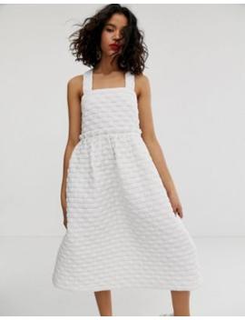 Asos White Volume Tiered Dress by Asos White