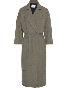 Belted Houndstooth Cady Coat by Derek Lam 10 Crosby