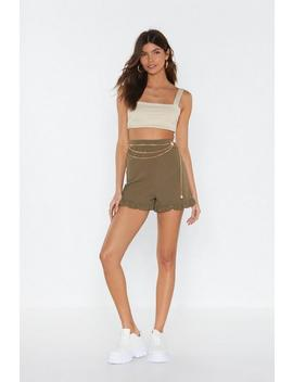Ms Ruffle Hem Shorts by Nasty Gal