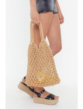 Hand Crochet Knit Shopper by Nasty Gal
