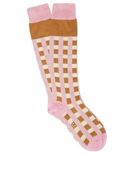 Cubic Silk Blend Socks by Marni