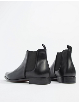 Asos Design Wide Fit Chelsea Boots In Black Leather With Black Sole by Asos Design