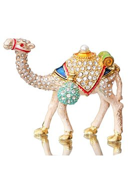 Waltz&F Camel Figurine Trinket Boxes Ornament Crystals,Hand Painted Patterns Jewelry Trinket Box Hinged Collectible Ring Display Holders For Women Or Girl by Waltz&F