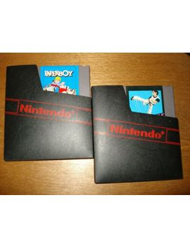 (2)-nintendo-entertainment-system-games:-paperboy-&-kung-fu by ebay-seller