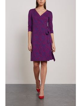 New Julian Printed Cotton And Silk Blend Wrap Dress by Diane Von Furstenberg