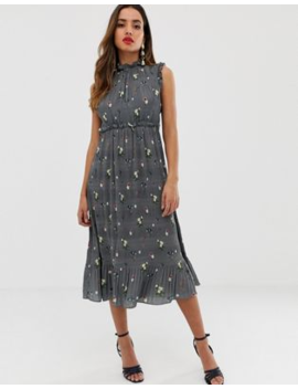 Ted Baker Toppaz Oracle Pleated Midi Dress by Ted Baker