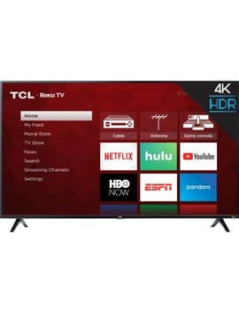 "65"" Class   Led   4 Series   2160p   Smart   4 K Uhd Tv With Hdr   Roku Tv by Tcl"