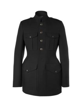 Slim Fit Virgin Wool Twill Coat by Balenciaga