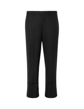 Cropped Virgin Wool Blend Trousers by Raf Simons