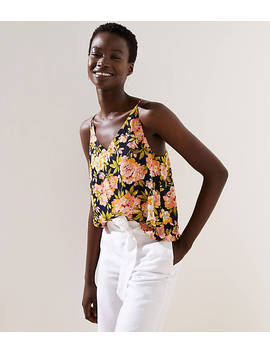 Petite Floral Strappy Cami by Loft