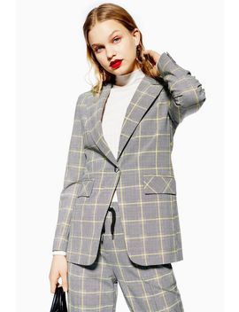 Windowpane Check Suit by Topshop