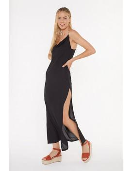 Cowl Neck Chiffon Maxi Beach Dress by Nasty Gal