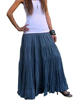 Billy's Thai Shop Tiered Skirt Long Skirts For Women Boho Gypsy Skirts Handmade Maxi Skirts For Women by Billy's Thai Shop